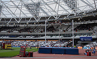 Renaud LAVILLENIE of France clears 6.03m in the POLE VAULT event during the Sainsbury's Anniversary Games, Athletics event at the Olympic Park, London, England on 25 July 2015. Photo by Andy Rowland.
