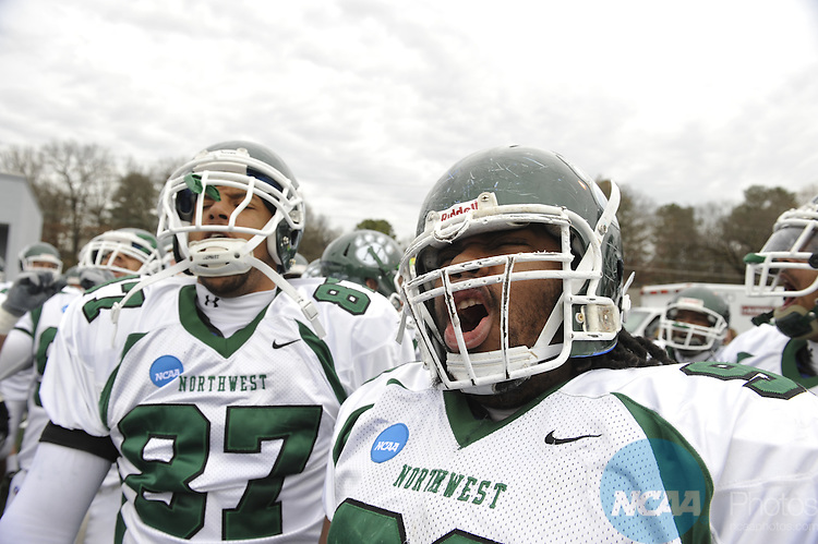 12 DEC 2009: Northwest Missouri State University takes on Grand Valley State University during the Division II Football Championship held at Braly Municipal Stadium in Florence, AL. Northwest Missouri State defeated Grand Valley State 30-23 for the national title. Stephen Nowland/NCAA Photos