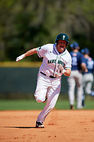 Dartmouth Big Green first baseman Michael Calamari (3) running the bases during a game against the Villanova Wildcats on March 3, 2018 at North Charlotte Regional Park in Port Charlotte, Florida.  Dartmouth defeated Villanova 12-7.  (Mike Janes/Four Seam Images)