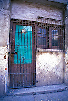 Doorways of Cuba, Bars, turquoise shade, Republic of Cuba, , pictures of front door entrances
