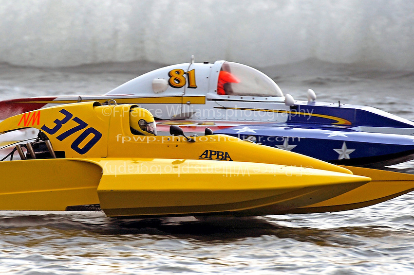 "NM-370 and Tom Thompson, NM-81 ""Country Boy"" (National Mod hydroplane(s)"