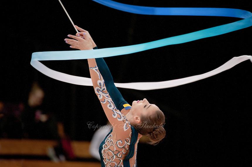 "February 13, 2016 - Tartu, Estonia - VIKTORIA MAZUR of Ukraine wins bronze in the All-Around at ""Miss Valentine"" 2016 international tournament."