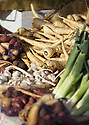 Parsnips, turnips, garlic and leek vegetables at the Poulsbo Farmers Market
