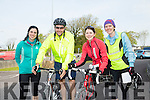 l-r  Ann Wall, Jodie Riordan, Marguerite Hickey and Noelle O'Connor at the Fenit Lifeboat charity fun cycle from O'Donnells, Mounthawk on Saturday