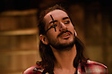 London, UK. 04.05.2016. The Busker's Opera, by Dougal Irvine, opens at the Park Theatre.  Directed by Lotte Wakeham, with set design by Anna Kezia Williams and lighting design by Christopher Nairne. Picture shows: George Maguire (Macheath). Photograph © Jane Hobson.