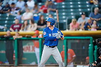 Cody Asche (3) of the Las Vegas 51s bats against the Salt Lake Bees at Smith's Ballpark on May 7, 2018 in Salt Lake City, Utah. The 51s defeated the Bees 10-8. (Stephen Smith/Four Seam Images)