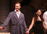 Ben Daniels & Spencer Kayden.during the Opening Night Curtain Call for the Roundabout Theatre Company's Broadway Production of 'Don't Dress For Dinner' at the American Airlines Theater on 4/26/2012 in New York City.