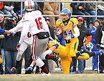 BROOKINGS, SD - NOVEMBER 22:  Brady Mengarelli #44 from South Dakota State University returns the open kickoff against the University of South Dakota in the first half of their game Saturday at Coughlin Alumni Stadium in Brookings. (Photo by Dave Eggen/Inertia)