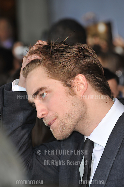 "Robert Pattinson at the world premiere of his new movie ""The Twilight Saga: New Moon"" at Mann Village & Bruin Theatres, Westwood..November 16, 2009  Los Angeles, CA.Picture: Paul Smith / Featureflash"