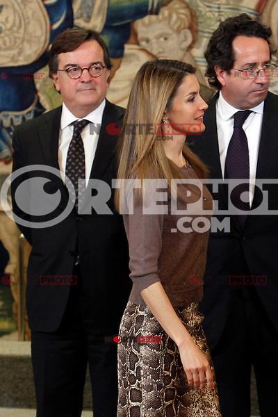 Princess Letizia of Spain attend an audience at Zarzuela Palace attend an audience at Zarzuela Palace. December 14, 2012. (ALTERPHOTOS/Caro Marin) /NortePhoto