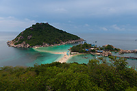 Beautiful island Nang Yuan panorama, near Ko Tao island, Thailand