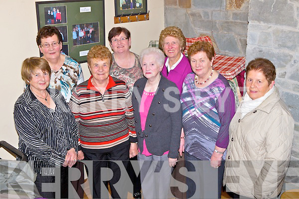 Showing great support for Scataglin Community Development Group was l-r: Hanah Mai Murphy, Joan Kerin, Mary Daly, Breda Horgan, Sheila Riordan, Ellen O'Sullivan, Peggy O'Keeffe and Joan Browne, pictured here last Friday night for a fundraising dance in the local Heritage Centre.