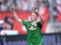 Fussball 1. Bundesliga   Saison  2012/2013   34. Spieltag   1. FC Nuernberg - SV Werder Bremen       18.05.2013 JUBEL Kevin De Bruyne (SV Werder Bremen) nach seinem Tor zum 0-1