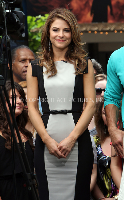WWW.ACEPIXS.COM . . . . .  ....May 9 2012, LA....Actress Maria Menounos at a taping of 'Extra' tv show live at The Grove on May 9 2012 in LA....Please byline: Zelig Shaul - ACE PICTURES.... *** ***..Ace Pictures, Inc:  ..Philip Vaughan (212) 243-8787 or (646) 769 0430..e-mail: info@acepixs.com..web: http://www.acepixs.com