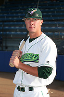 Jamestown Jammers Dustin Kaats poses for a photo before a NY-Penn League game at Russell Diethrick Park on August 11, 2006 in Jamestown, New York.  (Mike Janes/Four Seam Images)
