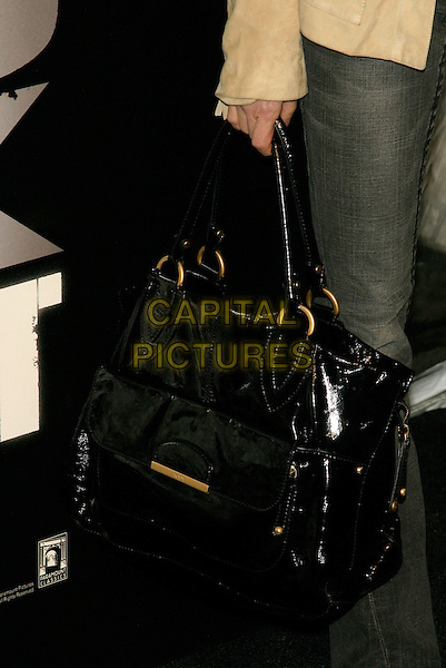 "MICHELLE YEOH'S BAG.New York Premiere of ""Shine A Light"" at the Ziegfeld Theater, New York, NY, USA..March 30th, 2008.black patent large oversized big bag purse .CAP/LNC/TOM.©TOM/LNC/Capital Pictures."