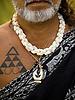 Native Hawaiian Kahu Kapi'ioho'okalani Lyons Naone at makaluapuna point, on the grounds of the Ritz-Carlton, Kapaula. Photo by Kevin J. Miyazaki/Redux