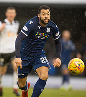 7th March 2020; Somerset Park, Ayr, South Ayrshire, Scotland; Scottish Championship Football, Ayr United versus Dundee FC; Kane Hemmings of Dundee chases a through ball