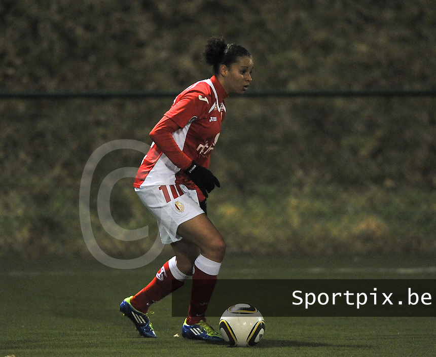 RSC Anderlecht - Standard Femina : Cindy Thomas.foto DAVID CATRY / Vrouwenteam.be