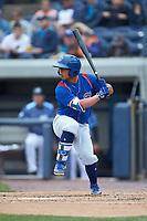 Christian Donahue (5) of the South Bend Cubs at bat against the West Michigan Whitecaps at Fifth Third Ballpark on June 10, 2018 in Comstock Park, Michigan. The Cubs defeated the Whitecaps 5-4.  (Brian Westerholt/Four Seam Images)