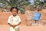 Little girl in the oasis of Kharga, Egypt
