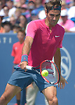 Roger Federer (SUI) wins against Novak Djokovic (SRB) 7-6, 6-2 at the Western and Southern Open in Mason, OH on August 23, 2015.