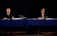 FILE -<br /> Jacques Parizeau lors de la Commission Belanger-Campeau en1993 (date exacte inconnue)<br /> <br /> <br /> PHOTO  : Pierre Roussel - Agence Quebec Presse