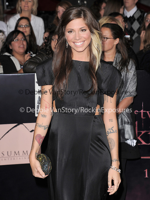 Christina Perri attends The Los Angeles premiere of Summit Entertainment's THE TWILIGHT SAGA: BREAKING DAWN PART 1 HELD AT Nokia Theatre at L.A. Live in Los Angeles, California on November 14,2011                                                                               © 2011 DVS / Hollywood Press Agency