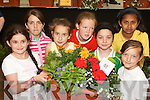 BLOOMING: Students from Presentation School, Tralee, with their window box at Feile na mBlath in Tralee Town Park on Friday. They.were Aneta Gaxha, Mia Ryder, Mimoza Toplana, Charotte McDonagh, Argjentina Kastrati, Leandra Lukose and Ina Dena.