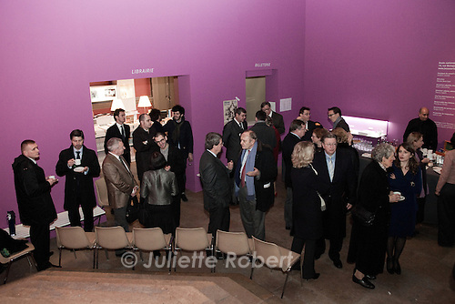 Inauguration de l'exposition Intelligentsia, a l'Ecole Nationale des Beaux-Arts de Paris, le 27 novembre 2012.