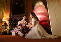 04/11/16<br /> <br /> Commission Mcc0073519 Assigned<br /> <br /> Alice Rathbone (23) and Daisy Edwards (19) sat by a tutu Christmas tree with a model of the Nutcracker Prince.<br /> <br /> Ballerinas pose for photographs in the Painted Hall at Chatsworth House to mark the start of the stately home's Christmas themed  &lsquo;The Nutcracker&rsquo;. Join Clara's adventures as she is swept away by her Nutcracker Prince until Jan 3 2017.<br /> <br /> All Rights Reserved F Stop Press Ltd. (0)1773 550665   www.fstoppress.com