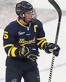 Jared Kolquist (Merrimack - 15) - The visiting Merrimack College Warriors defeated the Boston College Eagles 6 - 3 (EN) on Friday, February 10, 2017, at Kelley Rink in Conte Forum in Chestnut Hill, Massachusetts.