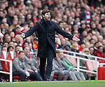Tottenham's Mauricio Pochettino during the Premier League match at the Emirates Stadium, London. Picture date November 6th, 2016 Pic David Klein/Sportimage