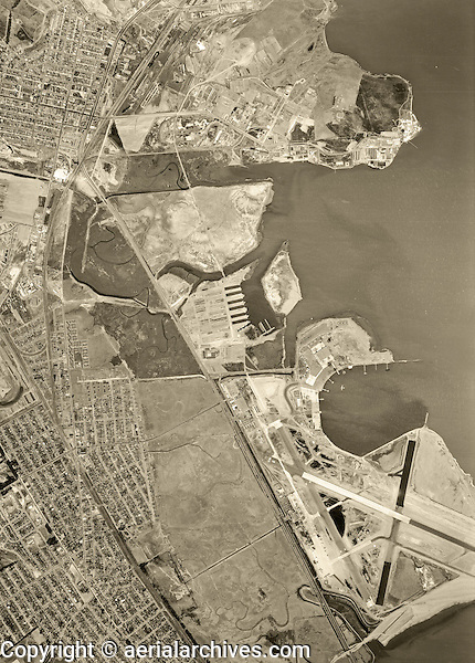 historical aerial photograph South San Francisco, Oyster Point, San Mateo County, California, 1946