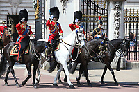 Prince Charles, Prince Andrew, Princess Anne<br /> Trooping the Colour, at Buckingham Palace, London, England, UK  June 09, 2018.<br /> CAP/GOL<br /> &copy;GOL/Capital Pictures