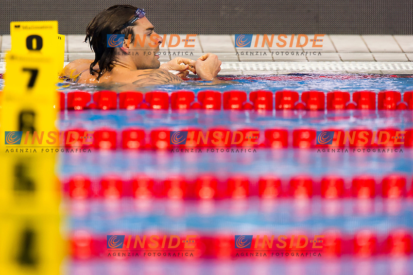 LACOURT Camille FRA<br /> London, Queen Elizabeth II Olympic Park Pool <br /> LEN 2016 European Aquatics Elite Championships <br /> Swimming<br /> Men's 50m backstroke preliminary  <br /> Day 10 18-05-2016<br /> Photo Giorgio Perottino/Deepbluemedia/Insidefoto
