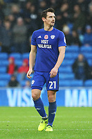 Craig Bryson of Cardiff City during the Sky Bet Championship match between Cardiff City and Brentford at the Cardiff City Stadium, Wales, UK. Saturday 18 November 2017