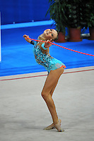 Daria Svatkovskaya (junior) of Russia performs with rope at 2010 Pesaro World Cup on August 27, 2010 at Pesaro, Italy.  Photo by Tom Theobald.