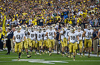 The Irish take the field at Michigan Stadium for the last time for at least a while.