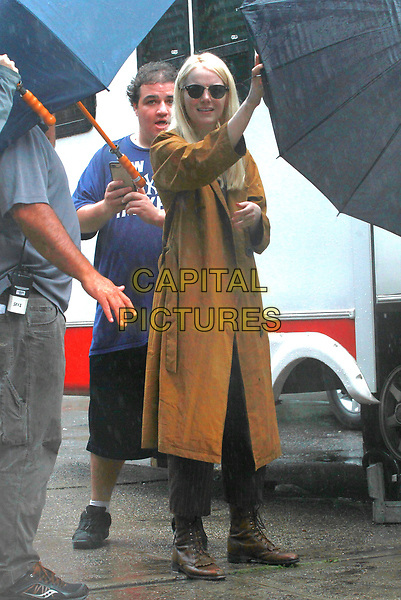 NEW YORK, NY - AUGUST 15: Emma Stone leaving the set of &quot;Maniac&quot; on August 15, 2017 in New York City. <br /> CAP/MPI/DC<br /> &copy;DC/MPI/Capital Pictures