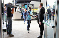 Pictured: Nathan Dyer of Swansea City arrives at the stadium Saturday 27 August 2016<br />