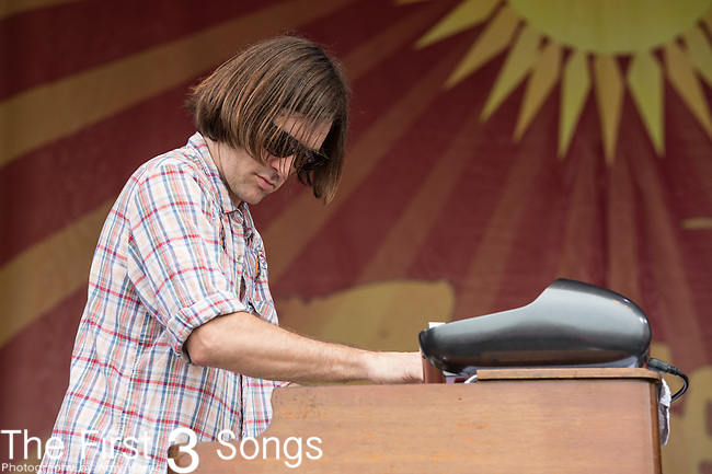 Trevor Brooks of the Honey Island Swamp Band performs during the 2015 New Orleans Jazz & Heritage Festival in New Orleans, Louisiana.