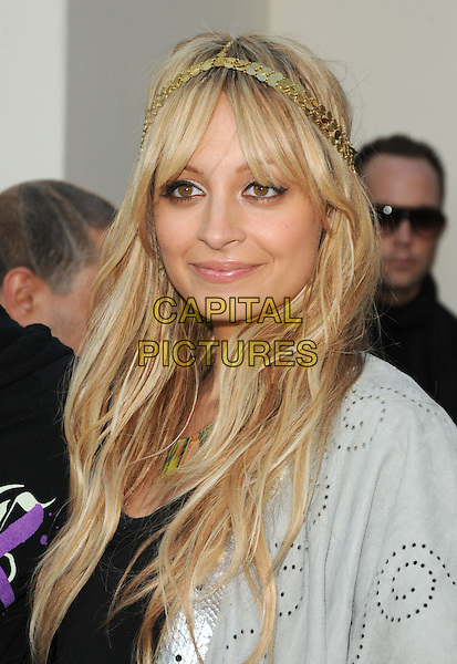 NICOLE RICHIE .House of Harlow 1960 & Clandenstine Industries Switch Boutique Runway Show held at Boulevard 3, Hollywood, California, USA..June 4th, 2009.headshot portrait headband gold black top jacket silver grey gray .CAP/DVS.©Debbie VanStory/Capital Pictures.