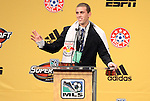13 January 2011: New York Red Bulls selected Corey Hertzog with the #13 overall pick. The 2011 MLS SuperDraft was held in the Ballroom at Baltimore Convention Center in Baltimore, MD during the NSCAA Annual Convention.