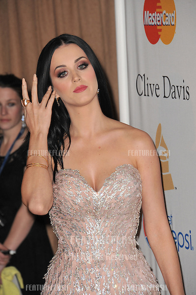 Katy Perry at the 2011 Clive Davis pre-Grammy party at the Beverly Hilton Hotel..February 12, 2011  Beverly Hills, CA.Picture: Paul Smith / Featureflash
