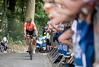 Greg Van Avermaet (BEL/CCC) leading the race up the infamous Muur van Geraardsbergen / Kapelberg & thus securing the Polka Dot Jersey for himself in his home country<br /> <br /> Stage 1: Brussels to Brussels (BEL/192km) 106th Tour de France 2019 (2.UWT)<br /> <br /> ©kramon