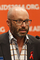 Brent Allan speaks at a press conference prior to the opening session of the 20th International AIDS Conference (AIDS 2014) at the Melbourne Convention and Exhibition Centre.<br /> For licensing of this image please go to http://demotix.com