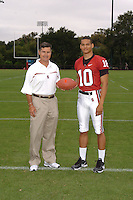7 August 2006: Stanford Cardinal head coach Walt Harris and Marcus Rance during Stanford Football's Team Photo Day at Stanford Football's Practice Field in Stanford, CA.