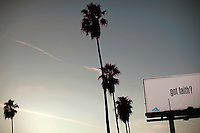 Et religiøst reklameskilt på Sunset Boulevard. Los Angeles 08.12.2010.