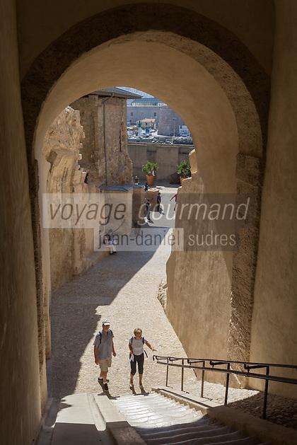 rance, Bouches-du-Rhône (13), Marseille, capitale européenne de la culture 2013,Le fort Saint Jean - La Montée des Canons // France, Bouches du Rhone, Marseille, European Capital of Culture 2013,  Fort Saint Jean